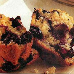 Recette de muffins aux bleuets (ou cassis)